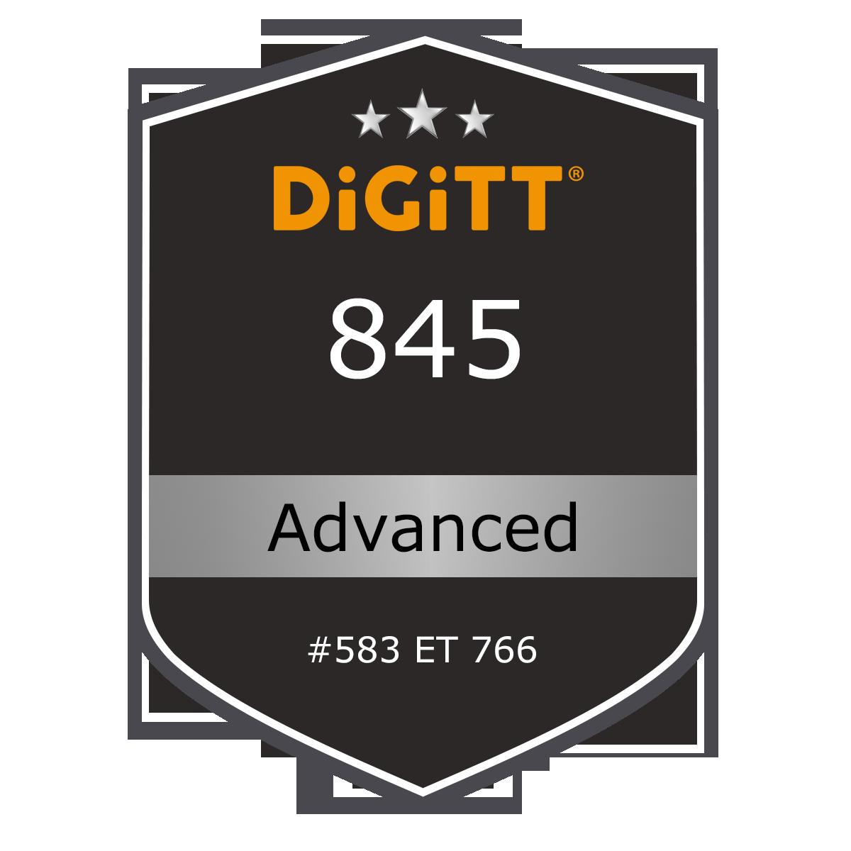 Badge du certificat DiGiTT