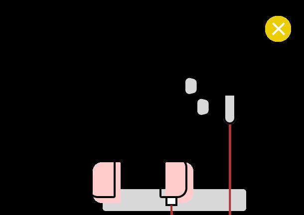 Écouteurs interdits